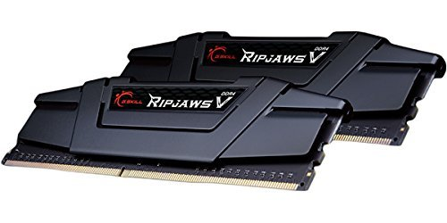 G.SKILL 8GB (2 x 4GB) Ripjaws V Series DDR4 PC4-25600 3200MHz for Intel Z170 Platform / Intel X99 Platform Desktop Memory Model F4-3200C16D-8GVKB