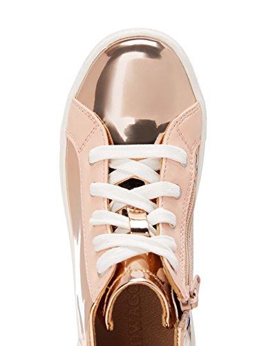 RED WAGON Mädchen Sneaker mit Metallic-Oberfläche Gold (Rose Gold)