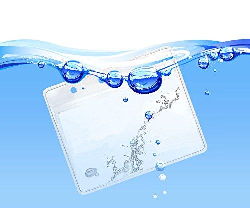 Bird Fiy/® 50/pezzi bustine porta badge identificativo in plastica trasparente orizzontale cartellino per il nome