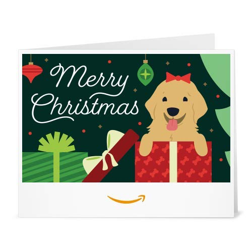 Amazon Gift Card - Print - Christmas Puppy (Puppy Christmas Gift)