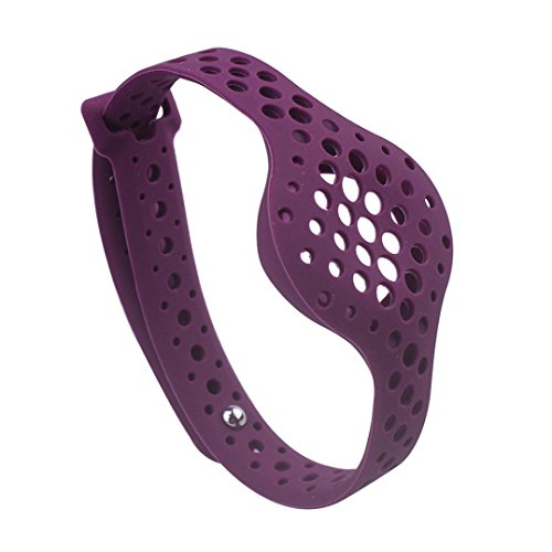 YRD Tech Smart Sports Watch Band Men and Women for Moov Now Smart Wristband Watchband Perforated Band Strap (Purple) by YRD TECH