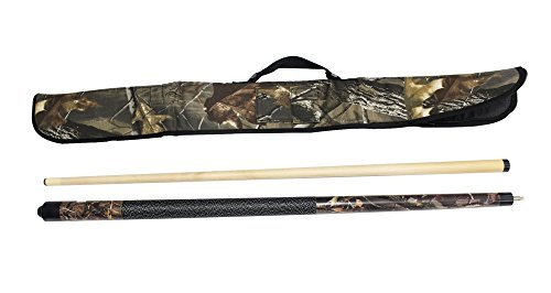 Soft Side Cue Case - Game Room Guys Viper Realtree 20 oz Hardwoods Camo Cue with Soft Hardwoods HD Camo Case