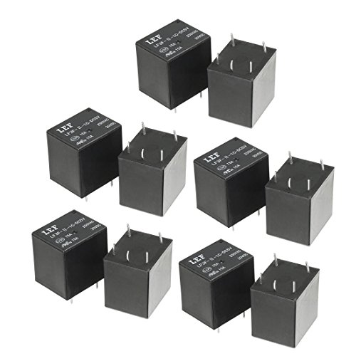 (uxcell 10Pcs DC 5V Coil SPDT 1NO+1NC 5P Power Electromagnetic Relay DIN Rail/PCB Mounted 250V/30V 15A )