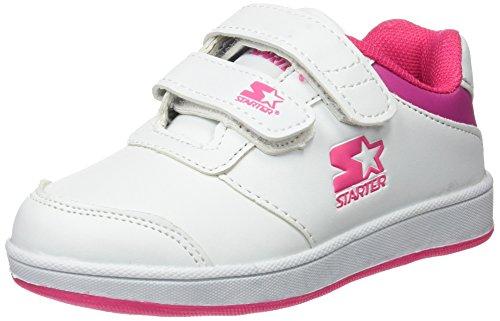 Starter Unisex Baby Lena Schuhe für Neugeborene, Blanco (Blanco / Rosa), 27 EU