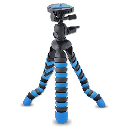 AVAWO Universal 12 Inch Flexible Tripod Wrapable Leg Quick Release Plate for GoPro, iPhone 7 6 6S Plus 5S Samsung note S7 S6 Smartphone + GoPro Tripod Mount + Cell Phone Tripod Adapter