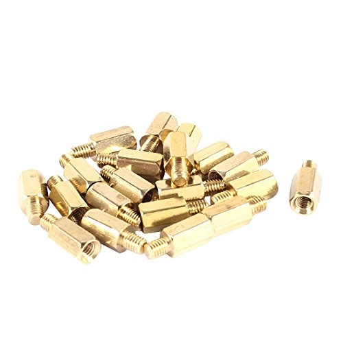 uxcell 20 Pcs PC PCB Motherboard Brass Standoff Hexagonal Spacer M3 8 4mm