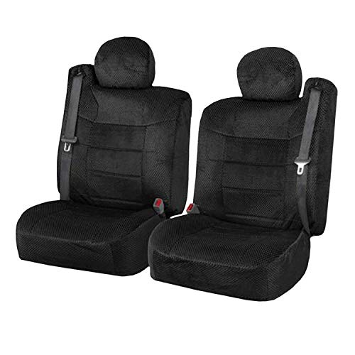 Semi Custom Scottsdale Seat Covers w/Built-in Seat Belt Opening for 2001-2006 Chevy Silverado,Chevy Tahoe, Chevy Suburban, GMC Yukon and GMC Sierra (Black)