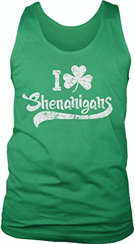 Crazy Dog TShirts - I Clover Shenanigans Tank Top Funny Sleeveless Tee for St. Patty's Day - herren -