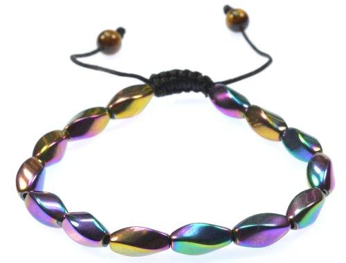 Magnetic Simulated Hematite Gemstone Bracelet