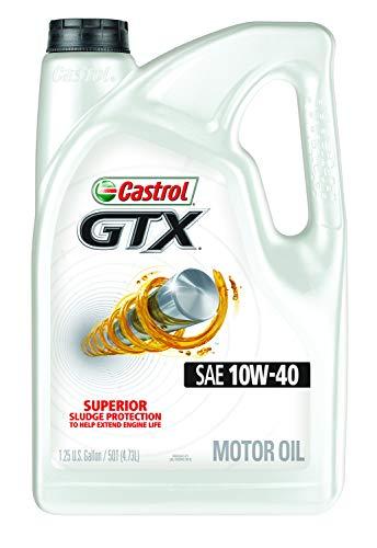 Castrol 03094 GTX 10W-40 Motor Oil, 5 ()