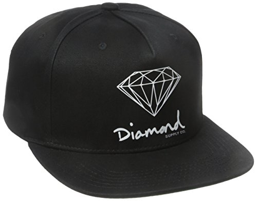 a257bca24ddde0 Amazon.com: Diamond Supply Co. Men's Og Script Brilliant Snapback, Black,  One-Size: Clothing