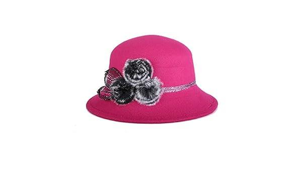 kyprx Skullies y amp; Gorros Sombrero de Piel de Mujer Damas Damas ...