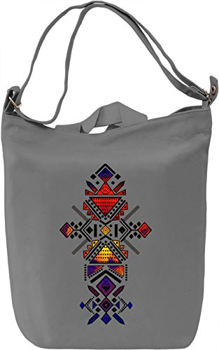 Vivid Tribal Borsa Giornaliera Canvas Canvas Day Bag| 100% Premium Cotton Canvas| DTG Printing|