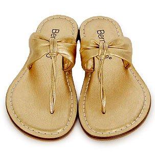 Bernardo Molly Gold Sandals 10