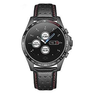 Wisdomx Reloj para Correr con Alta Frecuencia Cardíaca para la Muñeca y Notificaciones Inteligentes Rastreador de Ejercicios Reloj de Cuero ...