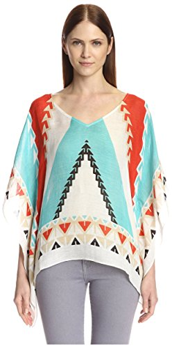 Theodora & Callum Women's Nomad Scarf Top, Turquoise Multi, One Size]()