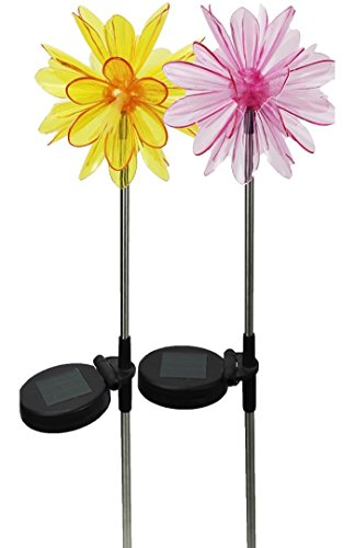 Solar Wholesale 1048-2 Solar Tropic Blossoms, a Pack of Two Fiber Optic Lights