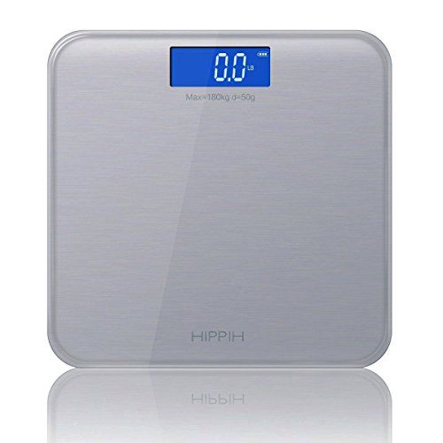 Yoobure 400lb / 180kg Digital Body Weight Bathroom Scale with Tempered Glass Balance Platform Easy Read Backlit LCD Display Scale (Gray) by Yoobure (Image #2)