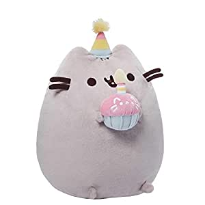 "GUND Pusheen Happy Birthday Plush, 10.5"" x 5"" x 7"""