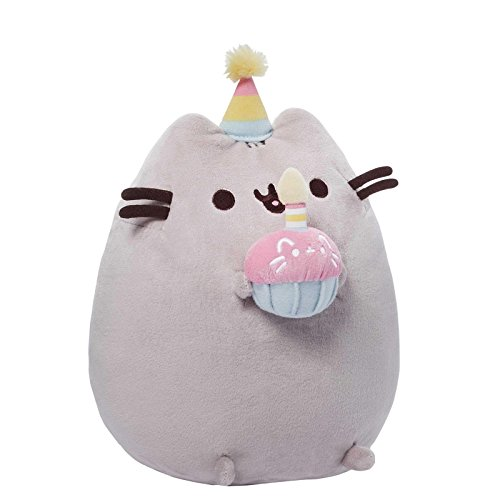 "GUND Pusheen Happy Birthday Plush, 10.5"" x 5"" x 7"""