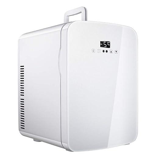WYNZYYX El Refrigerador Blanco Del Coche 15L, Pequeño Refrigerador ...