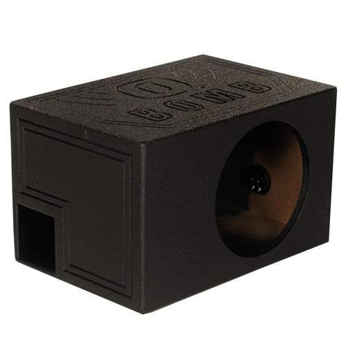 - Q Power QBOMB12VL SINGLE Single 12-Inch Side Ported Speaker Box with Durable Bed Liner Spray