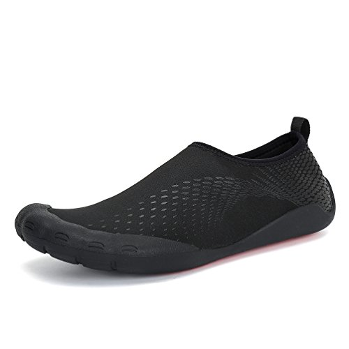 Dannto Water Shoes Men Quick-Dry Aqua Sock Outdoor Barefoot For Sailing Surfing Yoga Swim Aerobics Exercise Fitness Diving Boating Black-a