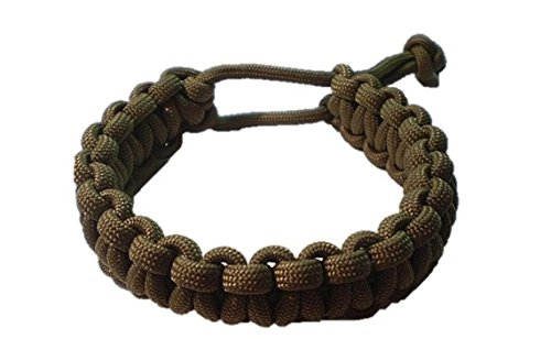 Mad Max Adjustable Paracord Survival Bracelet Tom Hardy Fury Road Coyote Brown