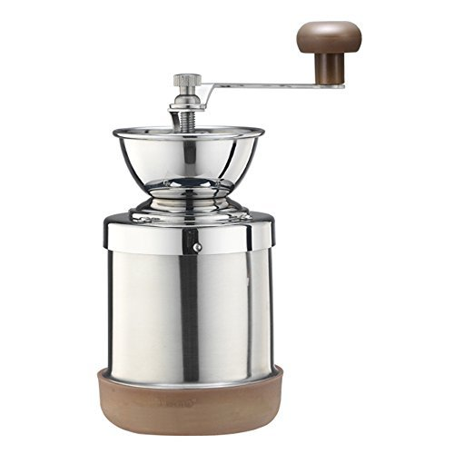 Cafe de Tiamo Stainless Steel Hand Coffee Grinder Skerton Ceramic Burr (HG6063) by Tiamo