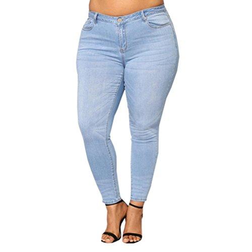 2018 Crayon Jeans, GreatestPAK Femmes et la Taille des Pantalons Jeans Slim Denim Skinny Taille Haute Pantalons Bleu