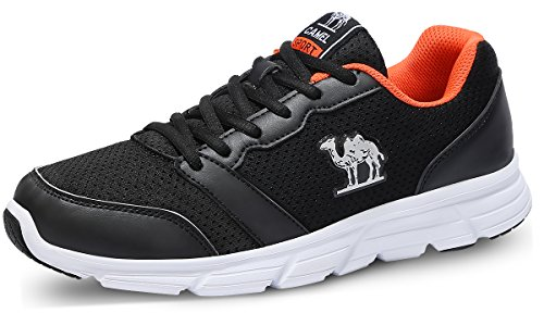 Libre Deportivas Zapatos de Deportivas y para Ejercicios de negro para Hombres Calzado Moda al Caminar Cómodas Aire Ligeras Malla Ciclismo Zapatillas Camel Deportivo Senderismo Gimnasia wP4Iqxg