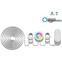 Smart LED Light Strip, Bobel WiFi Wireless RGB Light Strip Kit Phone Control Work with Amazon Alexa Indoor Bedroom Under Cabinet 6.5Ft(2M )