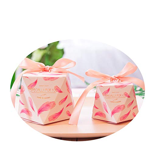 5Pcs Wedding Gift Box Package Sweet Candy Bag Shower Birthday Guests Favors Event Party Decoration 8 7x7x7.5cm