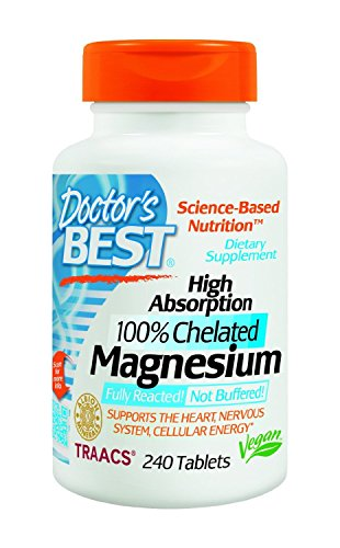Doctor's Best High Absorption Magnesium (100 mg) - 240 ct (Pack of - Absorption Tablets High Magnesium 240