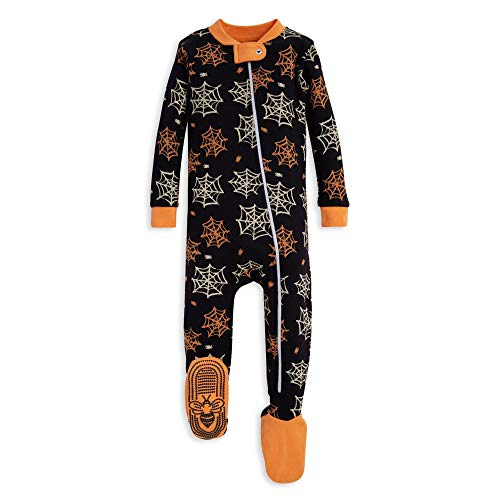 - Burt's Bees Baby Baby Boys Unisex Pajamas, Zip-Front Non-Slip Footed Sleeper PJs, Organic Cotton, Onyx Itsy Bitsy Spider, 24 Months