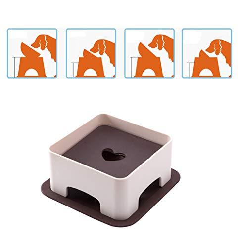 Estante de Mesa para Mascotas, Protect The Spine, para Ayudar a la digestión, Gatos Ajustables en Altura y Perros Mesa de...