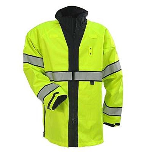 High Visibility Reversible Jacket - Blauer B.Dry Reversible High Visibility Rain Jacket (2XL)