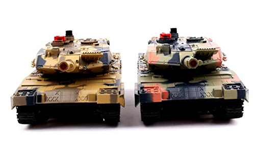 Tank Remote Controlled - Infra-red Laser Battle Tank Set (2 Pcs Included)