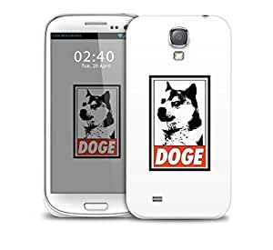 doge red black Samsung Galaxy S4 GS4 protective phone case