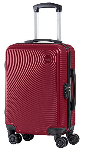 CABIN GO 5512 Valigia Trolley ABS, bagaglio a mano 55x37x20, Valigia rigida, guscio duro e antigraffio con 8 ruote… 1 spesavip