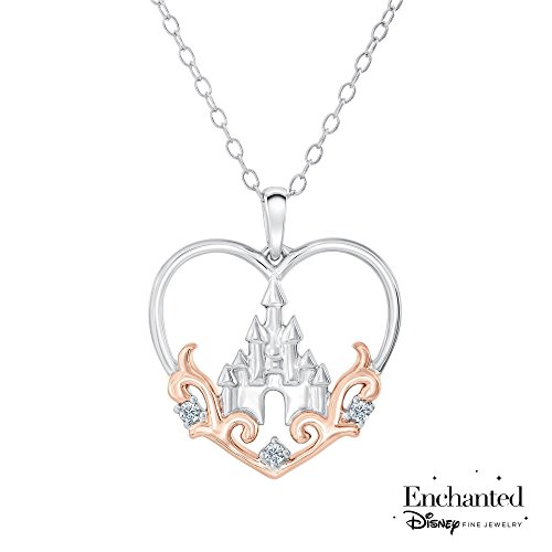 Disney Princess Castle Diamond Heart Pendant