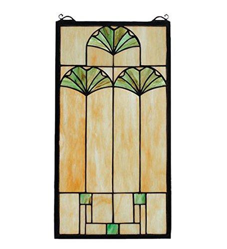 Meyda Tiffany 67787 Ginkgo Stained Glass Window, 11
