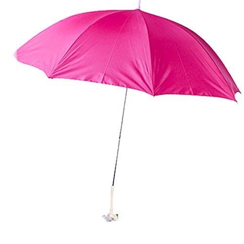 JEMIDI Sonnenschirm Sonnenschutz Strandschirm Schwimmbad Bodenschirm Schirm Sonnen 120cm Durchmesser Pink