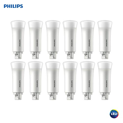 Philips LED 533975 Energy Saver PL-C Compact Light Bulb: 550-Lumen, 2700-Kelvin, 5 (13-Watt Equivalent), 4-Pin G24Q Base, Frosted, Soft White, 12-Pack, Piece ()