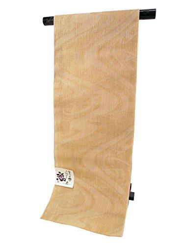 髄であるアルプス【さらさ】桐生織 夏用 八寸 本麻 名古屋帯 日本製 お仕立て付き