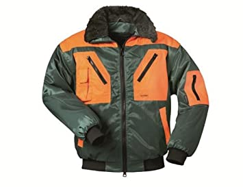 Norway Pilotenjacke Arbeitsjacke 4 in 1 Jacke  schwarz//orange Größe M-XXL