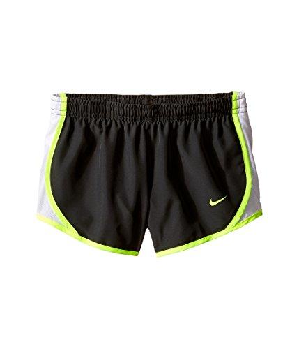 (NIKE Girl`s Dry Tempo Shorts (Anthracite (848196-061)/White/Volt/Volt, Medium))