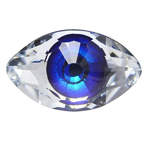 Swarovski Crystal, 4775 Eye Fancy Stone 18x10.5mm, 1 Piece, Digital Print Blue