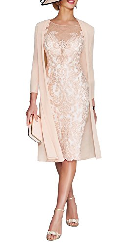 Ethel Women's 3/4 Sleeve Bride Floral Formal Mother of the Bride Dresses with Jacket
