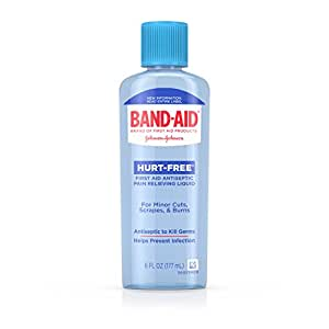 Band-Aid Brand First Aid Hurt-Free Antiseptic Wash, 6 Fl. Oz (Pack of 6)